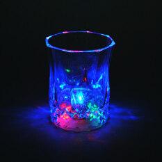 Moonar Creative Home Living อะคริลิคพลาสติกถ้วยมีไฟกระพริบแปดเหลี่ยมสับปะรด/โค้ก/แก้วไวน์ (1  ถ้วยสับปะรด) - Intl.