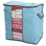 ขาย Moonar พับเก็บกระจกใสกระชับกระเป๋าเสื้อผ้าผ้าห่มขนาดใหญ่n สีน้ำเงิน ใหม่
