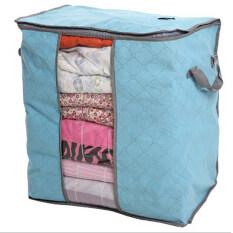 โปรโมชั่น Moonar พับเก็บกระจกใสกระชับกระเป๋าเสื้อผ้าผ้าห่มขนาดใหญ่n สีน้ำเงิน