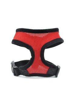 Moonar สัตว์เลี้ยงควบคุมเสื้อกั๊กนุ่มตาข่ายตาข่ายหายใจใช้พลังจาก Braces เสื้อผ้าสีแดง