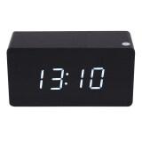 ส่วนลด Morden White Led Wooden Digital Black Alarm Clock Calendar Thermometer Unbranded Generic ใน จีน