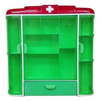 MPKWARE ตู้ยาพลาสติกขนาดใหญ่ - สีเขียว