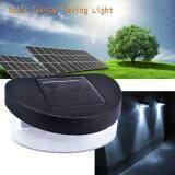 ราคา Mr Gadget ไฟพลังงานแสงอาทิตย์ ไฟสนาม นอกอาคาร ทางเดิน Solar Cell Power Fence 2 Leds Light