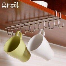 โปรโมชั่น Mug Holder Coffee Tea Cup Rack Storage Kitchen Under Shelf Cabinet Hanger Hooks Intl จีน