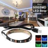 โปรโมชั่น ไฟเส้น Multi Color Rgb 90Cm 5050 Smd Led กันน้ำ พร้อม Usb Cable
