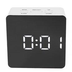 ซื้อ หลายนาฬิกาดิจิตอลกระจกนาฬิกาปลุกพร้อมนาฬิกาปลุกอุณหภูมิ สีดำ ขาว สนามบินนานาชาติ ใหม่
