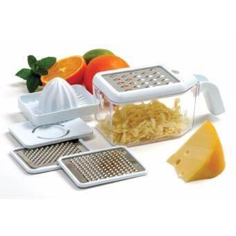 เครื่องครัวอเนกประสงค์ ที่คั้นน้ำส้ม มะนาว ที่ขูดชีส ที่แยกไข่ขาว  Multi-Grater with Juice & Egg Seperator kitchen Smart Kit (1 set) -