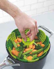 ขาย Multifunction Nylon Silicone Folding Steamer Basket Fruit Vegetable Plate Kitchen Tool Intl Unbranded Generic
