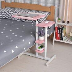 Mylazydesk โต๊ะวางโน๊ตบุ๊ค (รุ่น01-2 สีชมพู60cm) โต๊ะข้างเตียง โต๊ะข้างโซฟา ที่วางโน๊ตบุ๊ค แท่นวางโน๊ตบุ๊ค โต๊ะทำงาน โต๊ะวางคอมพิวเตอร์ โต๊ะอ่านหนังสื่อ โต๊ะเขียนหนังสือ โต๊ะอเนกประสงค์ overbed table lap desk laptop stand computer desk