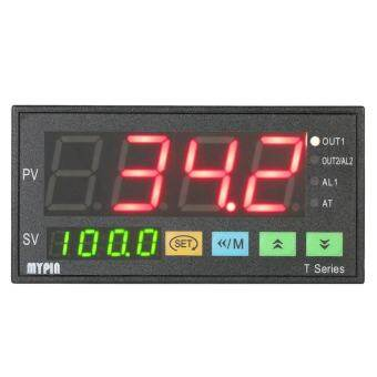 MYPIN Multi-functional Intelligent Temperature Controller Dual 4 Digital LED Display Thermostat PID Heating Cooling Control TC/RTD Input SSR Output 1 Relay Alarm 96mmX48mmX80mm 90-260V - intl-