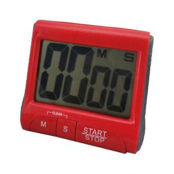 อ้อจอแอลซีดีขนาดใหญ่ในครัวดิจิตอลจับเวลานับลงมาเสียงนาฬิกาปลุก (สีแดง)