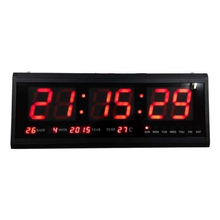 รีวิว นาฬิกาดิจิตอล LED NUMBER CLOCK แขวนผนัง(ตัวเลขสีแดง) รุ่น HB4819SM