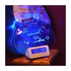 ขาย นาฬิกาเขียนได้ เรืองแสง กระดานโน๊ตทรงหน้าแมว แสงสีน้ำเงิน Cat Accessories ถูก