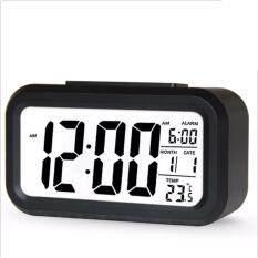 ราคา นาฬิกาปลุกตั้งโต๊ะ นาฬิกาปลุกเรื่องแสง นาฬิกาปลุก หน้าจอ Led สีดำ เป็นต้นฉบับ