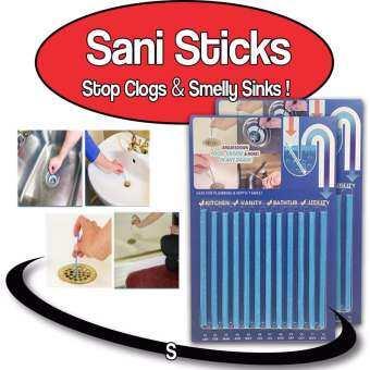 Namita Sani Sticks แท่งทำความสะอาดท่อน้ำ แก้ท่อตัน  (1 ชุดมี 12 แท่ง ใช้ได้ 1 ปี)-