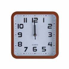 โปรโมชั่น Nanapan Shop นาฬิกาแขวนผนัง ตกแต่งบ้าน แบบสี่เหลี่ยม ขนาด 9 นิ้ว สีน้ำตาล ถูก