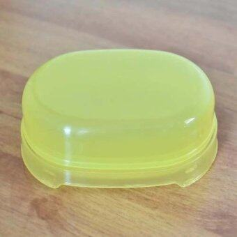 Nanapan Shopกล่องใส่สบู่ ขนาด8x12x4ซม.สีเหลือง