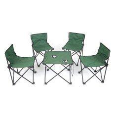 ซื้อ Nance Shop ชุดโต๊ะทานอาหาร พร้อมเก้าอี้ 4 ตัว สีเขียว ออนไลน์