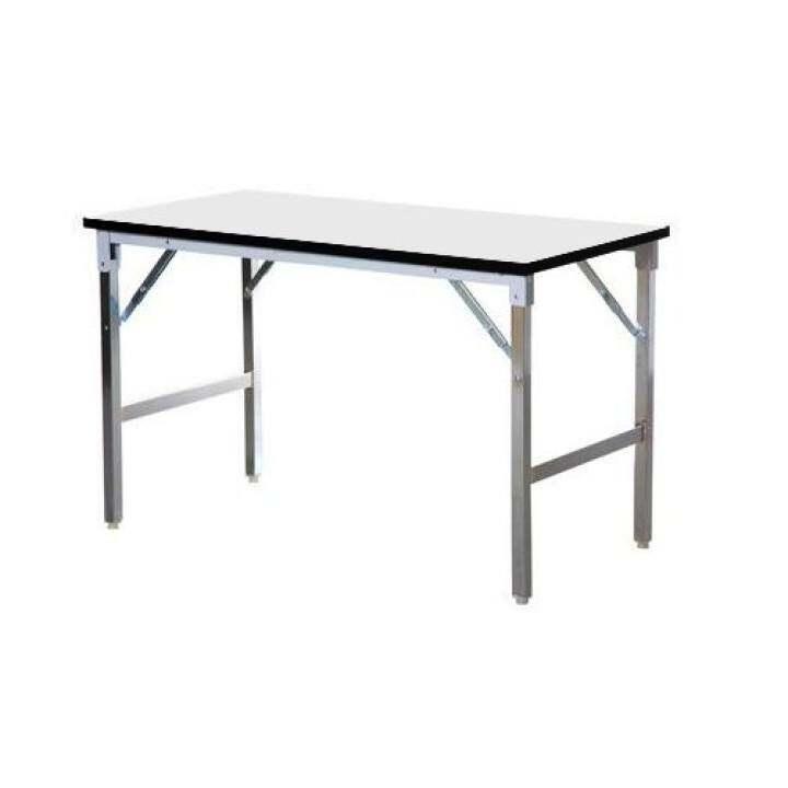 NDLโต๊ะพับอเนกประสงค์ ขาเหล็กชุปโครเมี่ยม ขนาด 120x45x75 ( สีขาว )