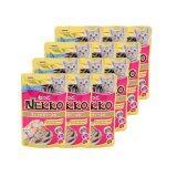 ราคา Nekko อาหารเปียกแมว รสปลาทูน่าหน้ากุ้ง และหอยเชลล์ 70G 12 Units ใหม่