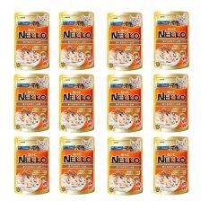 ราคา Nekko Pouch อาหารเปียกแมว รสปลาทูน่าและปลาโออบแห้ง 70G 12 Units ใหม่ ถูก