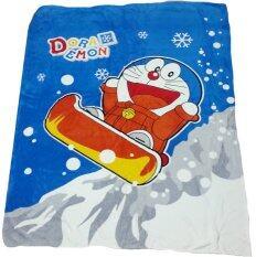 ขาย Netto ผ้าห่มขนสำลี 5 ฟุต 60X80 นิ้ว ลิขสิทธิ์แท้ ลายโดเรมอน Winter ไทย