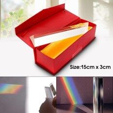 ทบทวน ที่สุด New 15Cm Triple Triangular Prism Physics Teaching Light Spectrum Optical Glass Intl