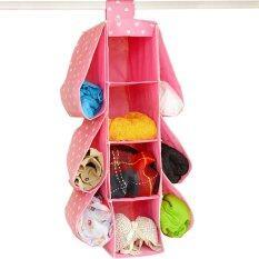 ราคา New 4 Shelf 6 Pouch Multifunctional Wardrobe Hanging Handbag Storage Rack Handbag Organizer Hanging Storage Unit Sweater Organiser Unbranded Generic