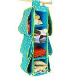 ขาย New 4 Shelf 6 Pouch Multifunctional Wardrobe Hanging Handbag Storage Rack Handbag Organizer Storage Unit Sweater Organiser ออนไลน์ จีน
