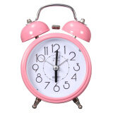 ส่วนลด New Classic Silent Double Bell Alarm Clock Quartz Movement Bedside Night Light Pink Unbranded Generic จีน