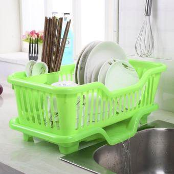 ใหม่แฟชั่นที่ดีอ่างล้างจาน Dish Drainer ตู้แร็คอบแห้งผู้ถือถาดใส่ตะกร้าถาด [NF] - นานาชาติ-