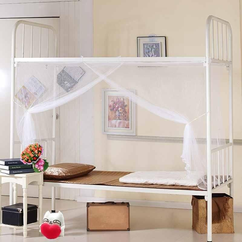 【120x 195 x 150cm】White Four Corner Post Bed Canopy-Mosquito Net Twin Queen King Size Netting - intl