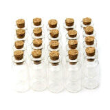 New Wholesale 100 pcs 2ml 16x35mm Small Tiny Clear Glass Bottle Vial with Cork