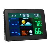 ราคา New Wireless Color Weather Station Indoor Outdoor Temperature Humidity Forecast Clock Eu ใหม่