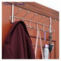 ราคา New York Big Sale ที่แขวนผ้า ที่แขวนสิ่งของหลังบานประตูสแตนเลส No 016 สีเงิน ใหม่