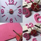 ซื้อ นาฬิกาติดผนังแบบโมเดร์น Nhooling Diy Clock สีชมพู ใน Thailand