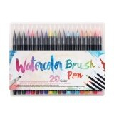 ส่วนลด Niceeshop 20 Color Premium Painting Soft Brush Pen Set Watercolor Markers Pen Effect Best For Coloring Books Manga Comic Intl จีน