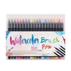 ราคา Niceeshop 20 Color Premium Painting Soft Brush Pen Set Watercolor Markers Pen Effect Best For Coloring Books Manga Comic Intl ใหม่ ถูก
