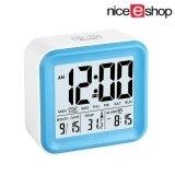 ขาย Niceeshop Digital Alarm Clock With 3 Alarms And Night Light Time Date Day Of Week Temperature Display Clock Blue ถูก ใน จีน