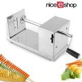 ราคา Niceeshop Stainless Steel Potato Spiral Slicer Cutter Machine Sliver Niceeshop ออนไลน์