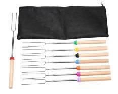 ขาย Niceeshop Premium Marshmallow Roasting Sticks Set Of 8 Pieces Hot Dog Fork 33 Inch Safety Barbecue Sticks ราคาถูกที่สุด