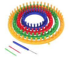 ส่วนลด สินค้า Niceeshop ชุด 4 รอบถักทอพลาสติก แบบสี