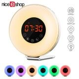 ราคา Niceeshop Sunrise Alarm Clock Sunrise Simulator Wake Up Light Snooze Function Sunlight Alarm Clock With Led Multi Colorful Night Light Fm Radio Intl ใหม่
