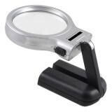 ขาย ซื้อ Niceshop Hand Held Folding Magnifier Reading Standing Magnifying Glass Eye Loupe With 10 Led Light Intl