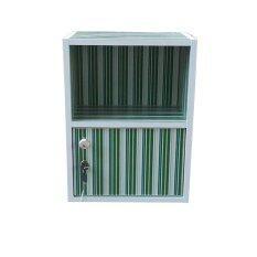ขาย Nk Furniline ตู้ล็อคเกอร์ Box2 1Dk ลายเส้นสีเขียว ผู้ค้าส่ง