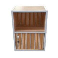 ซื้อ Nk Furniline ตู้ล็อคเกอร์ รุ่น Box2 1Dk ลายเส้นสีเหลือง Nk Furniline ถูก
