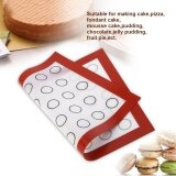 โปรโมชั่น Nonstick Silicone Baking Mat Oven Pastry Liner Macaron Cake Cookie Sheet Kitchen Red Intl