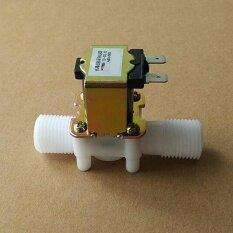 ปกติปิด Solenoid Valve Coil Dc 12 โวลต์ไฟฟ้า Solenoid วาล์ว   ขนานการเชื่อมต่อด้ายไหลเข้าน้ำไหล.