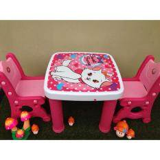 ราคา Np Toys ชุดโต๊ะเอนกประสงค์ โต๊ะเขียนหนังสือเด็ก โต๊ะเด็ก มีเก้าอี้2ตัว ลายแมวสีชมพู เป็นต้นฉบับ Np Toys