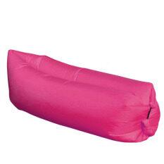 โซฟาเป่าลมพกพา เหมาะสำหรับกิจกรรมกลางแจ้ง ขนาดเมื่อลมข้างในเต็ม 75x250 Cm - สีชมพูบานเย็น.